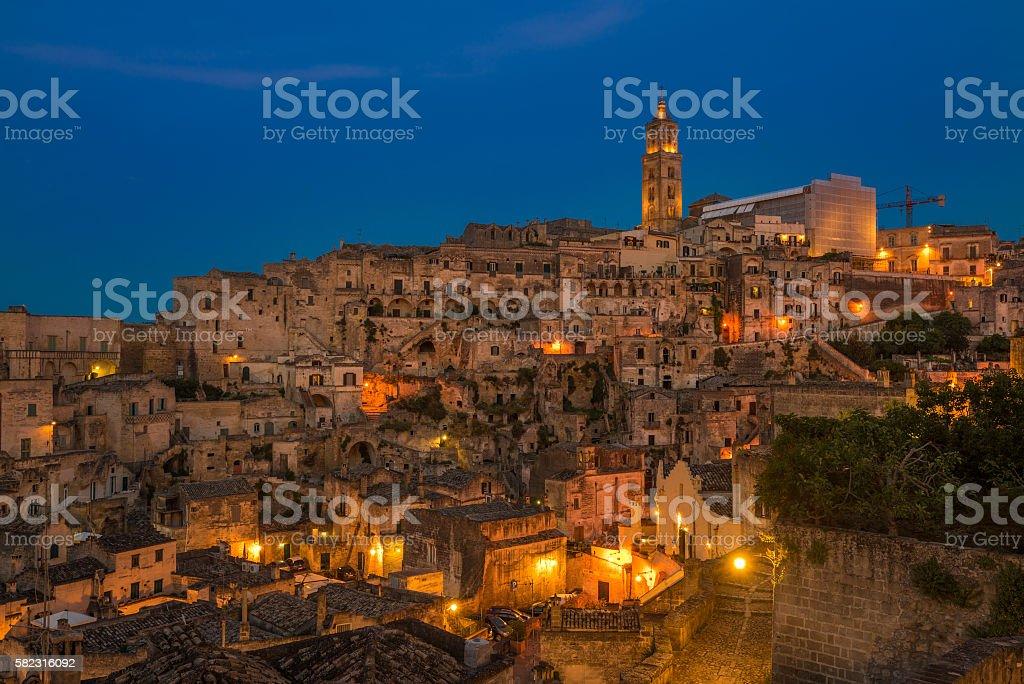 Ancient town of Matera (Sassi di Matera), Basilicata, Italy stock photo