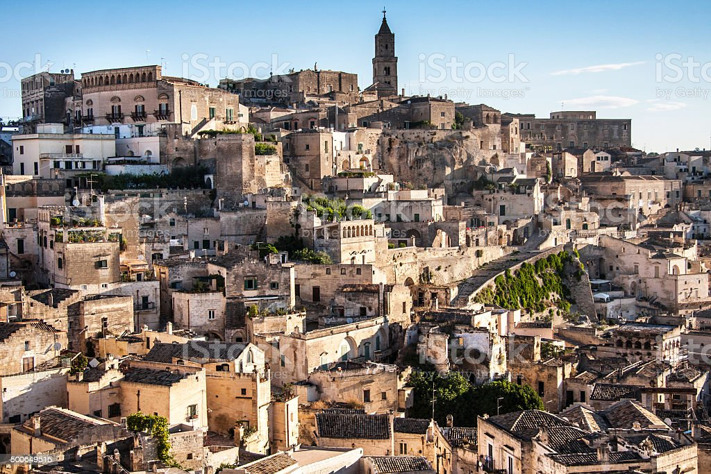 ancient town of Matera, unesco world heritage in Italy royalty-free stock photo