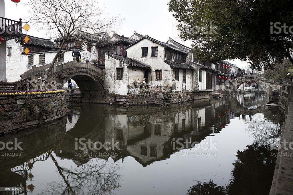 Ancient town of Zhouzhuang stock photo