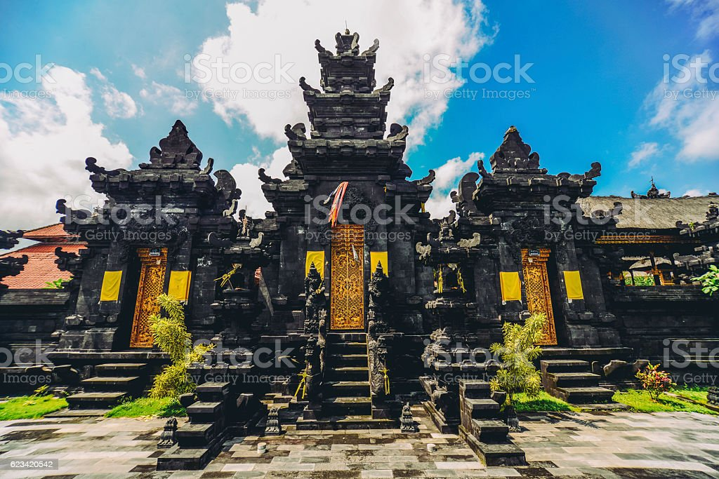 Ancient Traditional Hindu Religious Temple in Bali, Indonesia stock photo