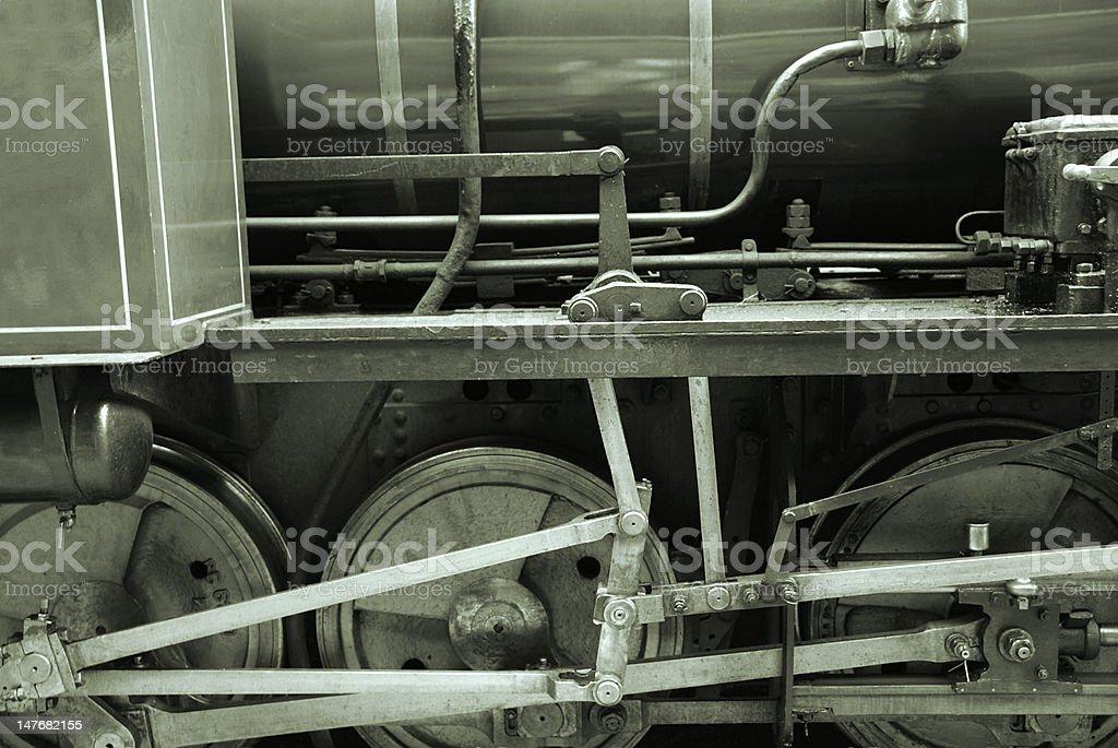 Ancient train royalty-free stock photo