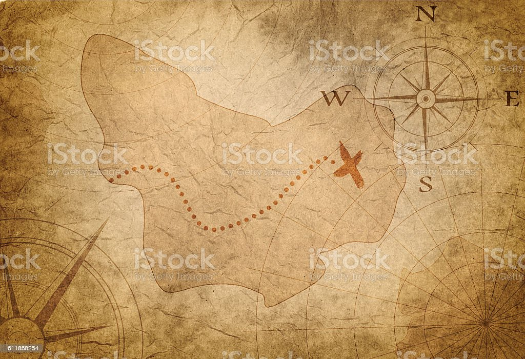 ancient treasure map stock photo