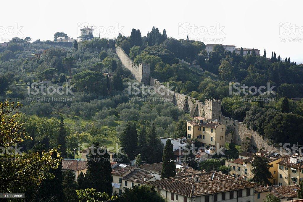 Ancient Tuscan Hillside royalty-free stock photo
