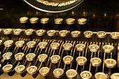 ancient typewriter keyboard