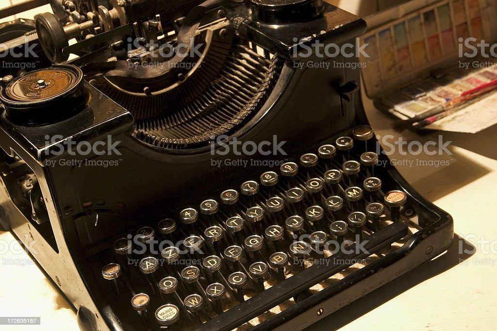 ancient typewriter royalty-free stock photo