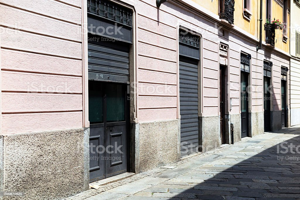 Ancient typography shop. Color Image royalty-free stock photo