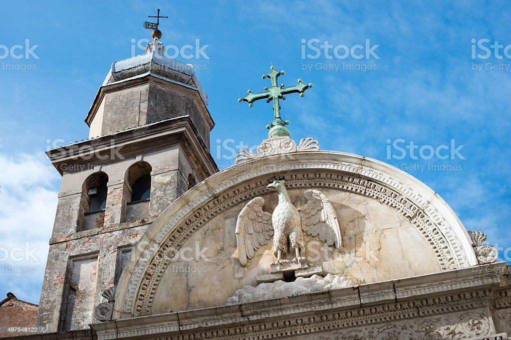 ancient Venice architecture stock photo