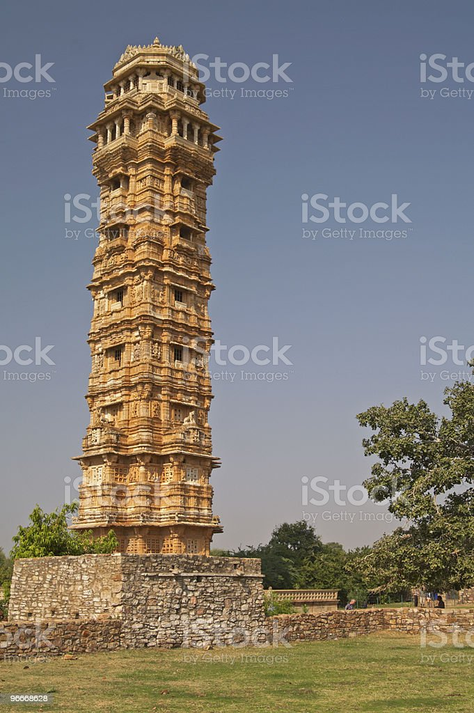 Ancient Victory Tower stock photo
