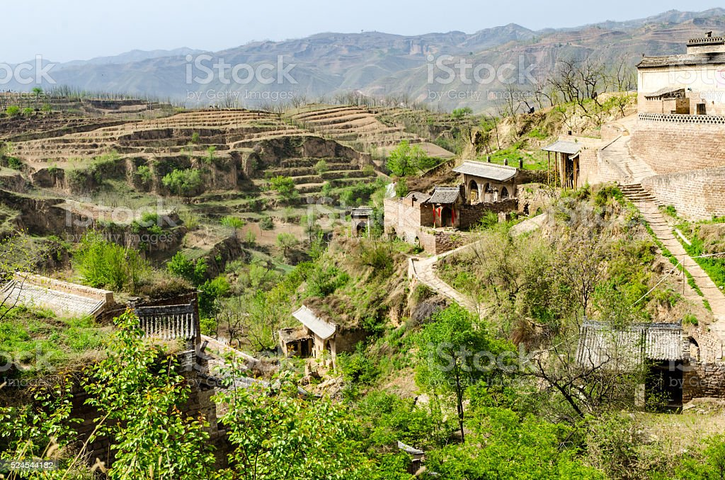 Ancient village in Shanxi Province, China stock photo