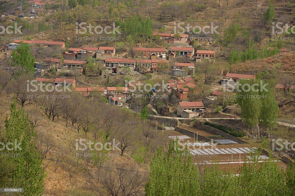 Ancient village of China stock photo