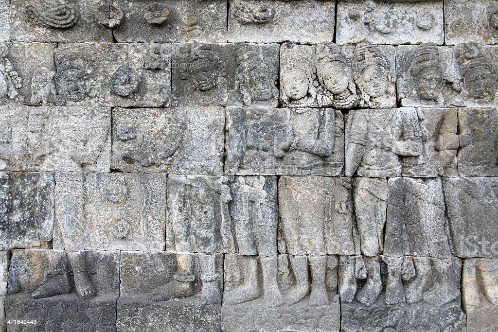 Ancient wall art royalty-free stock photo