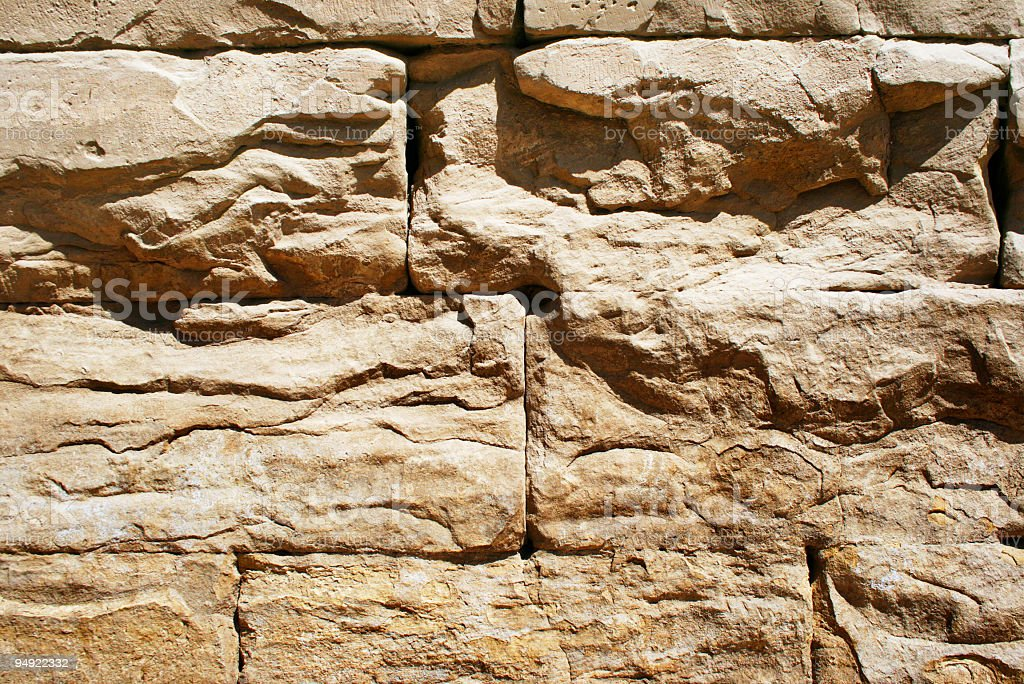 Ancient wall detail stock photo