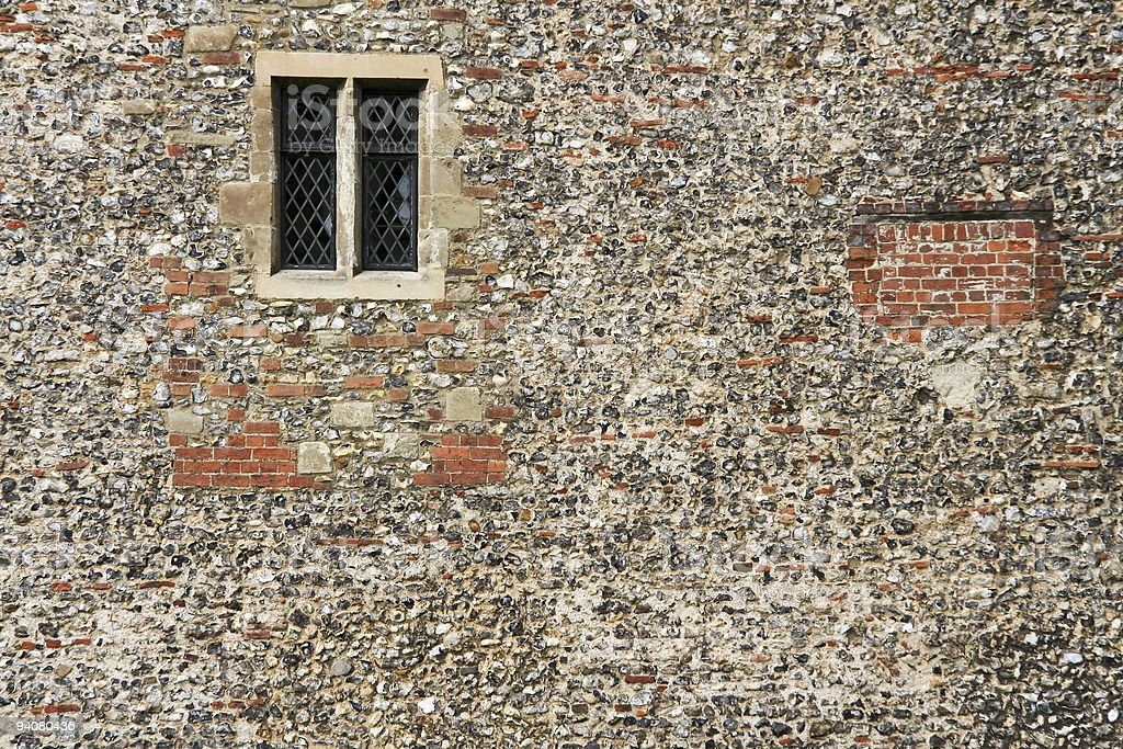 ancient wall st albans royalty-free stock photo