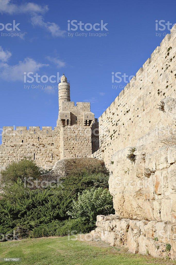 ancient walls of the Jerusalem royalty-free stock photo