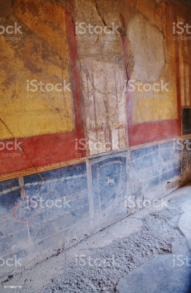 Ancient Walls With Color stock photo