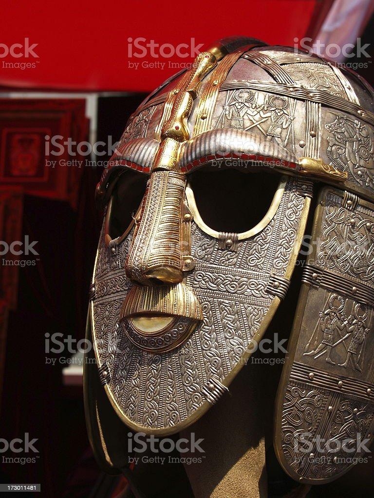 Ancient Warrior Mask stock photo