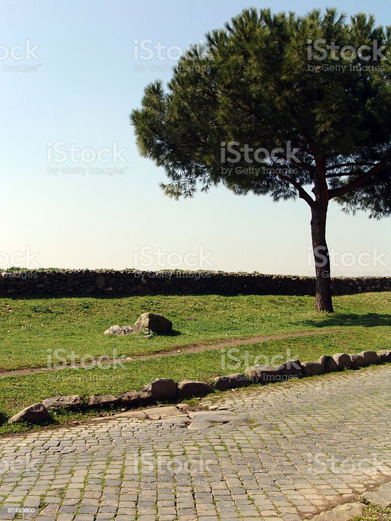 ancient way royalty-free stock photo
