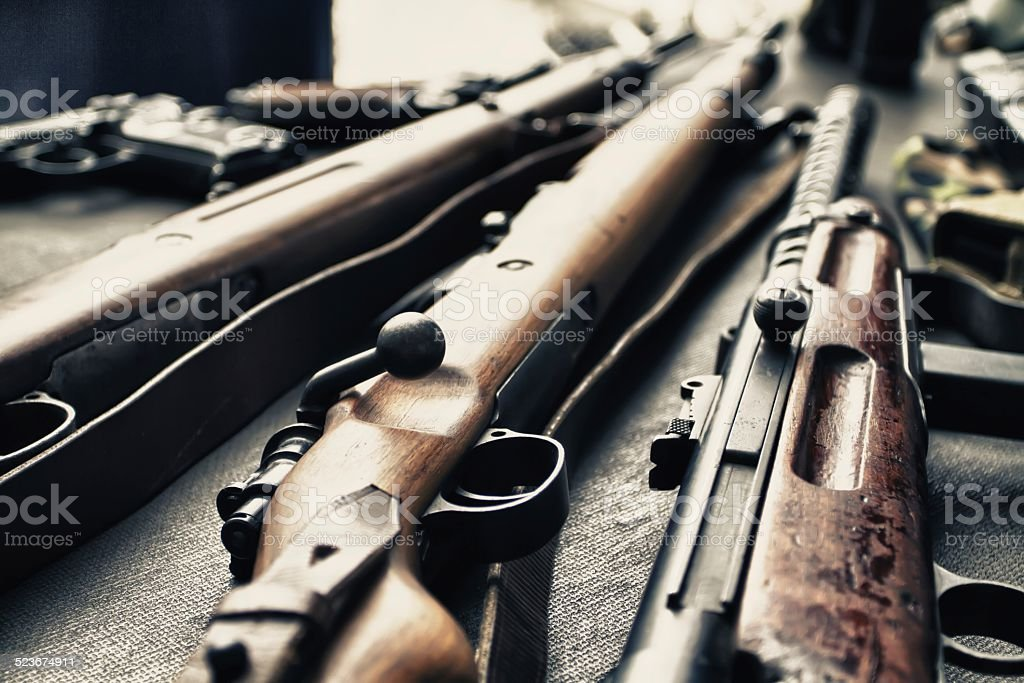 Ancient weapons of war. stock photo