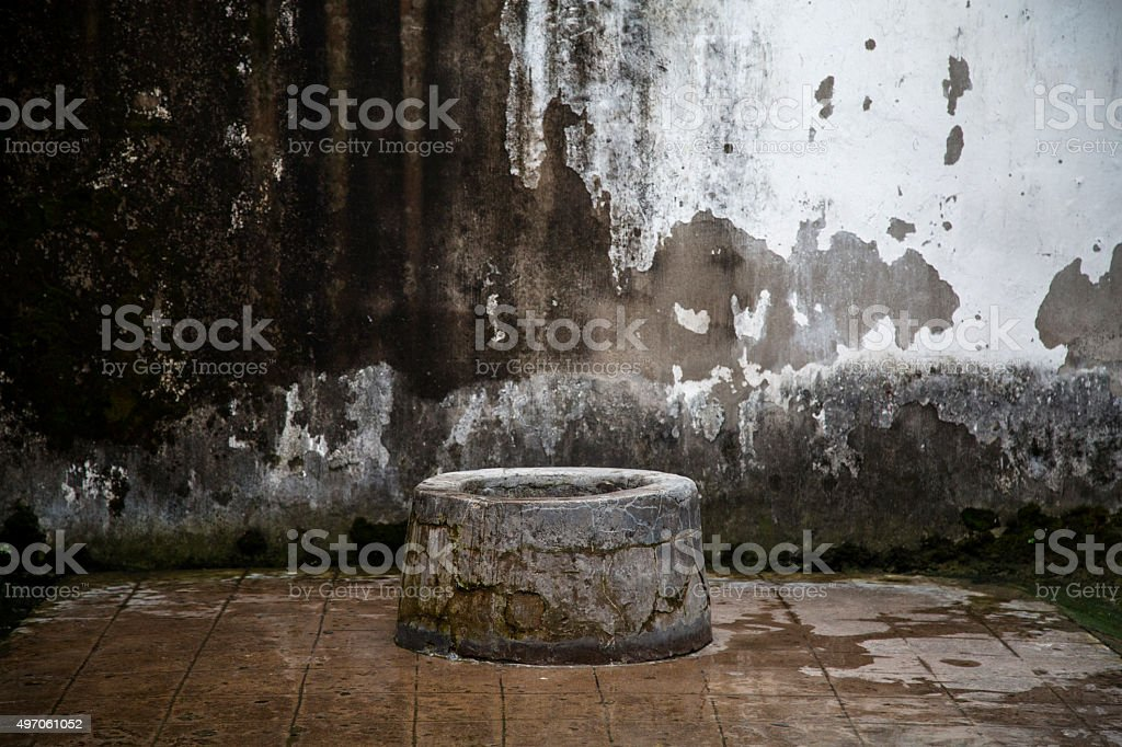 ancient well stock photo
