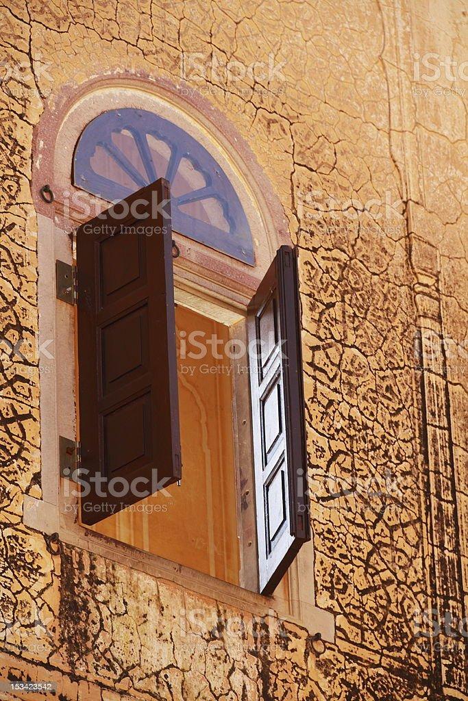 Ancient Window Jaipur stock photo