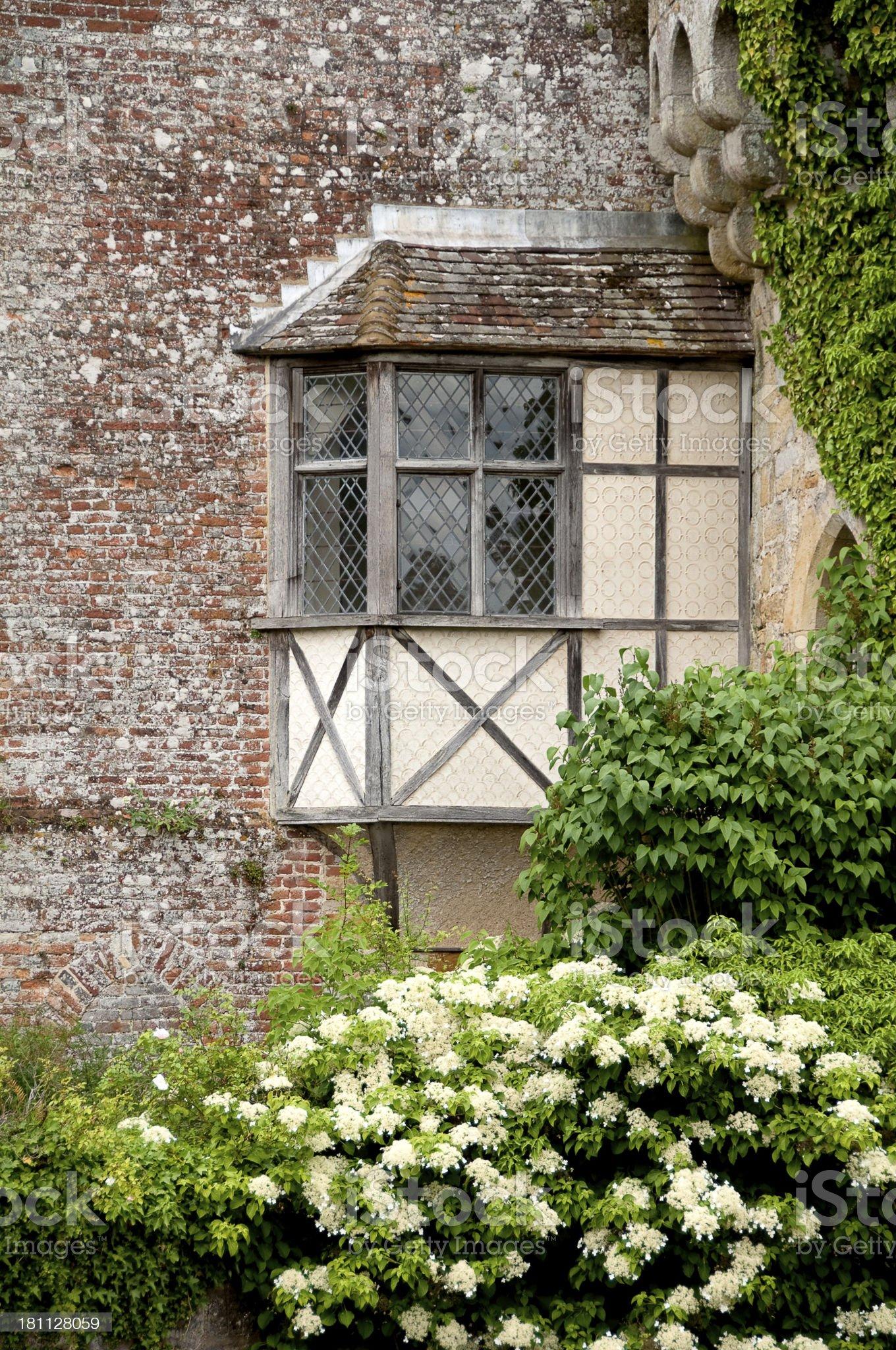 Ancient window - Scotney Castle, Kent, UK royalty-free stock photo