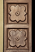 ancient wood door decorations
