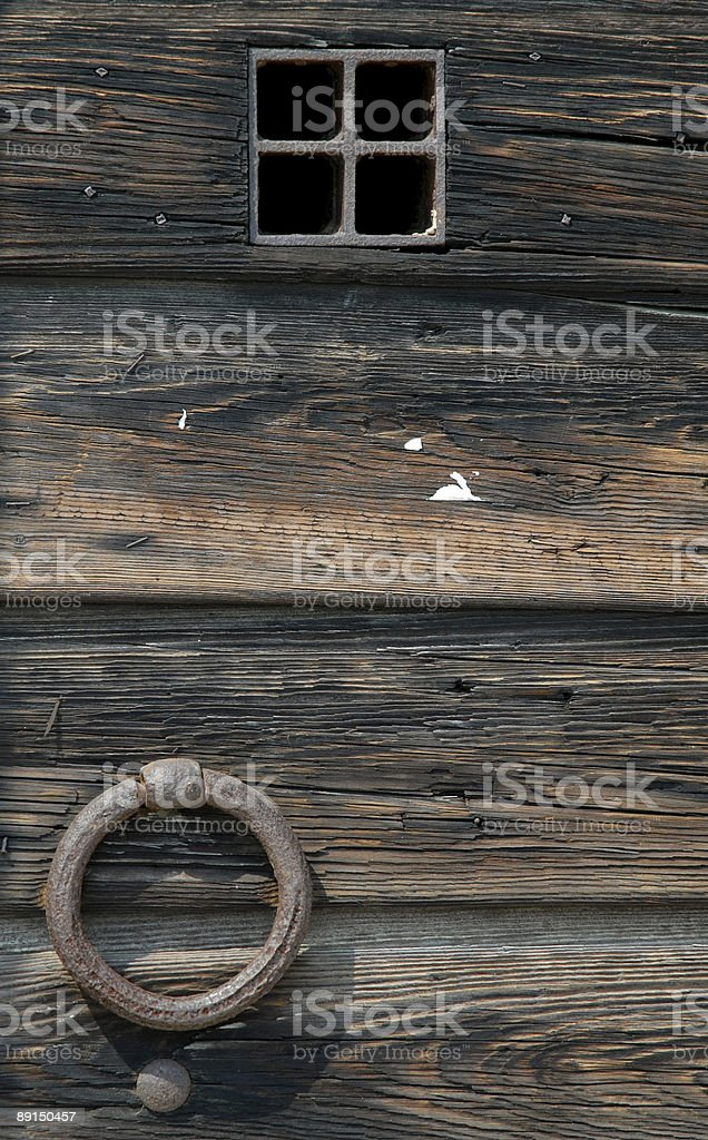 Ancient Wood Door stock photo