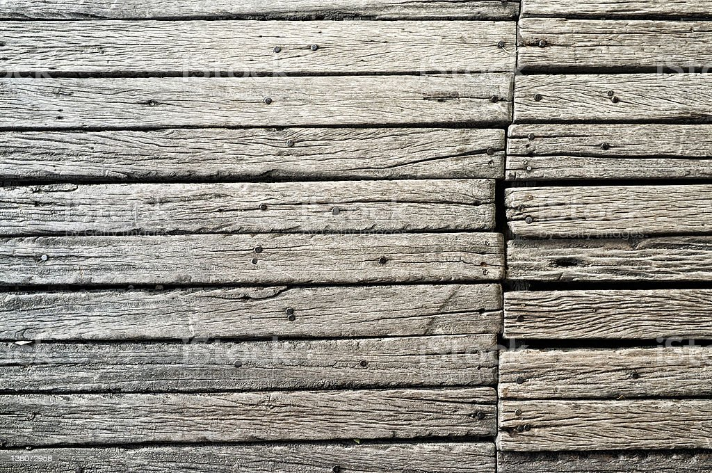 Ancient wood floor royalty-free stock photo