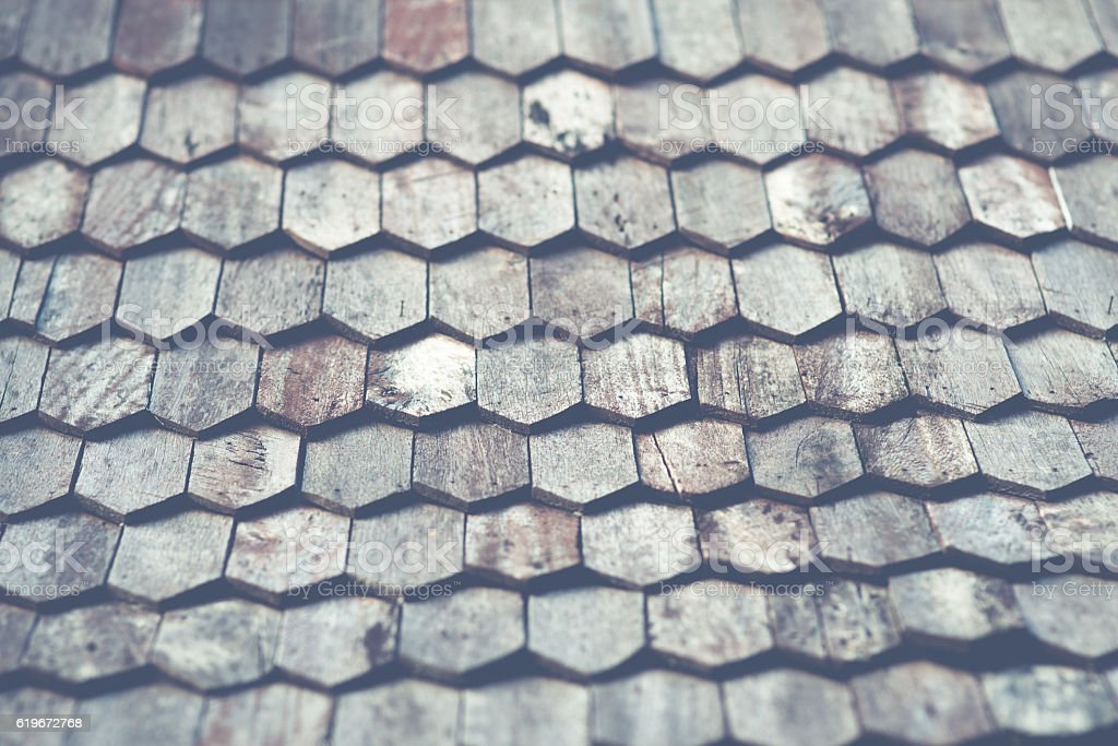 Ancient wooden roof stock photo