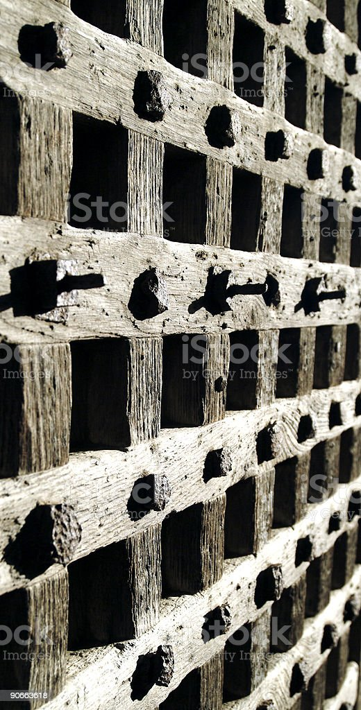 Ancient woodwork royalty-free stock photo
