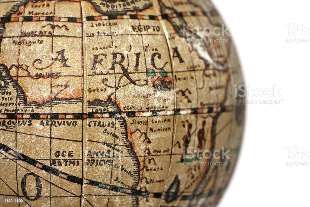 ancient world africa, cut out on white background royalty-free stock photo