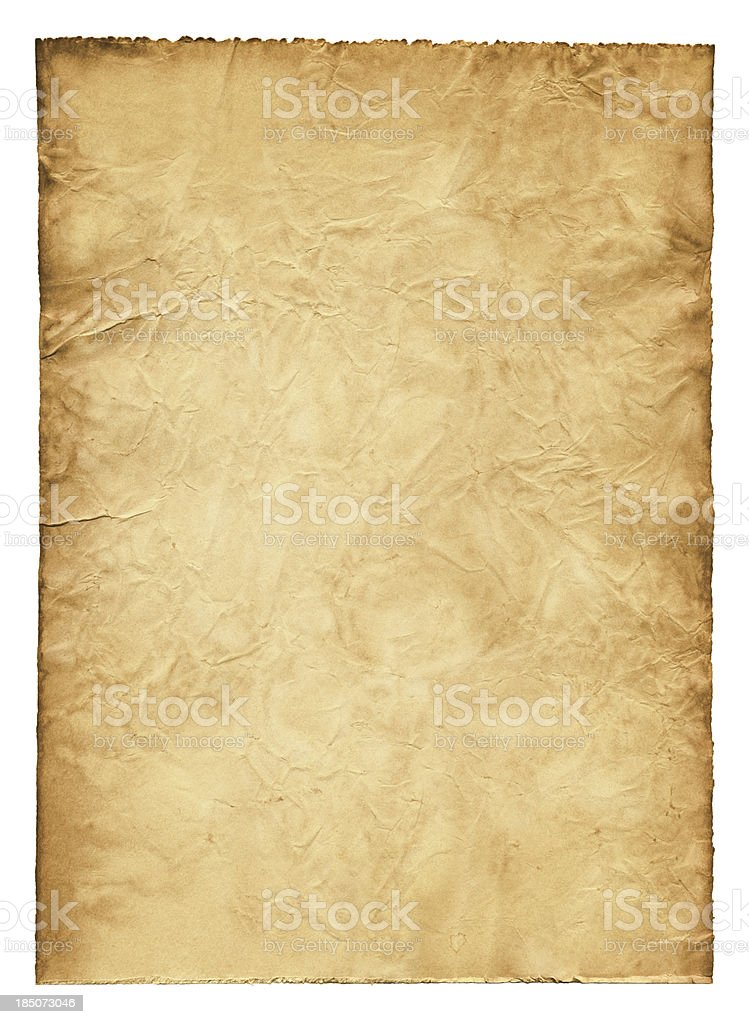 Ancient wrinkled paper XXXL stock photo