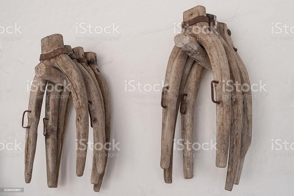 Ancient Yokes stock photo
