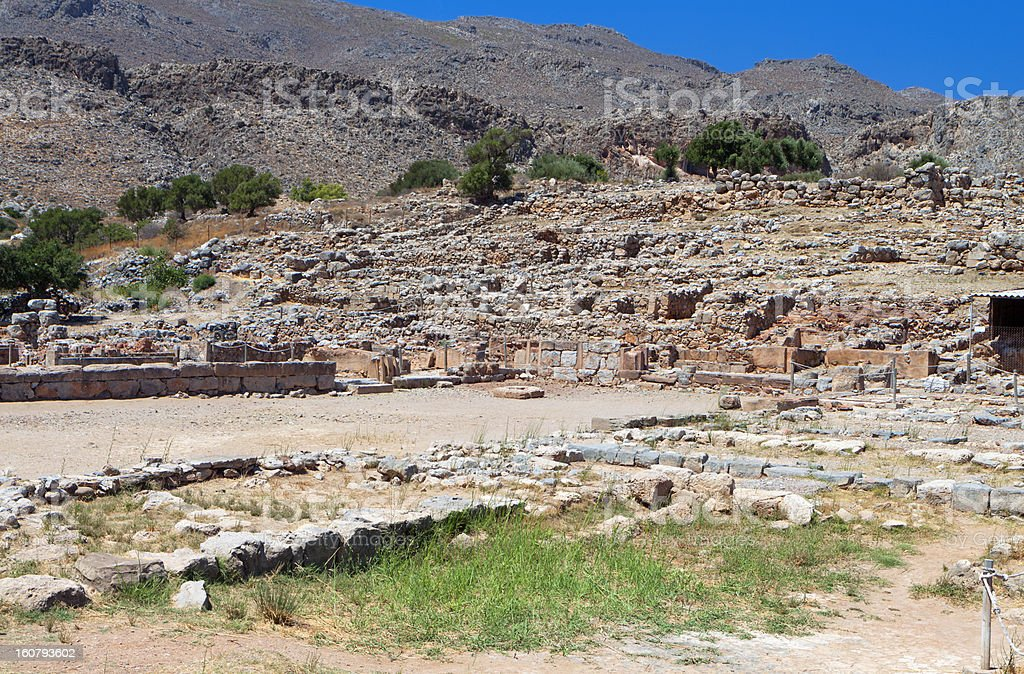 Ancient Zakros at Crete island in Greece stock photo