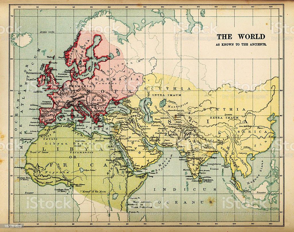 ancients map royalty-free stock photo