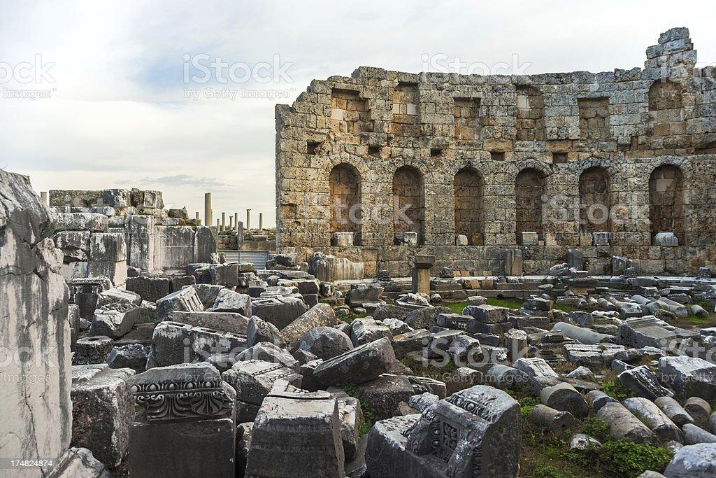 Ancieny City Of Perge royalty-free stock photo