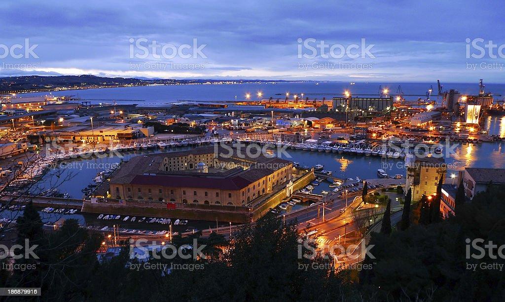 Ancona at Twilight royalty-free stock photo
