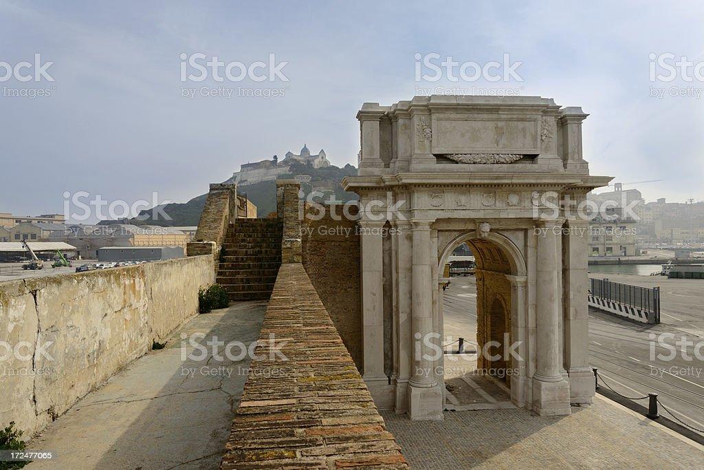 Ancona: Clementine Arch stock photo