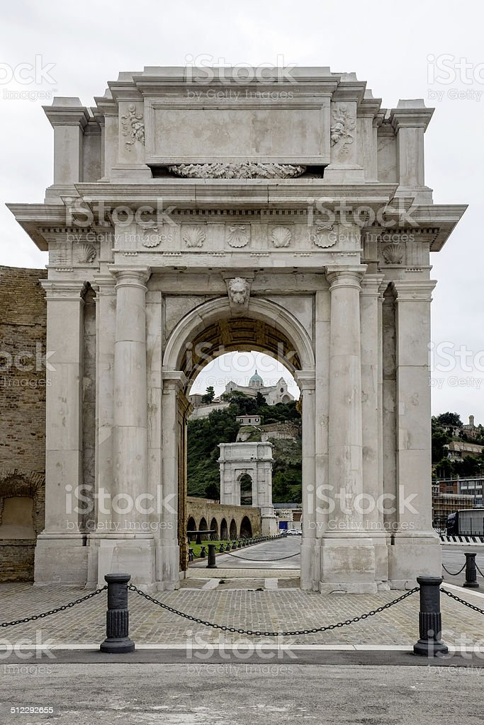 Ancona: Clementine Arch stock photo