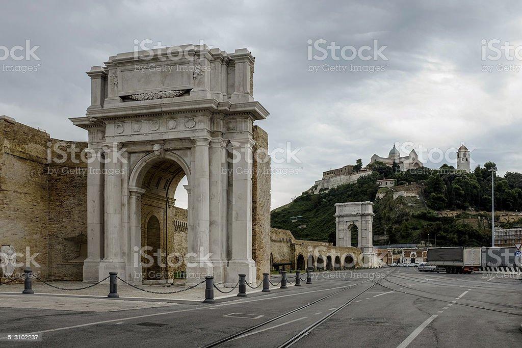 Ancona: Roman arches stock photo