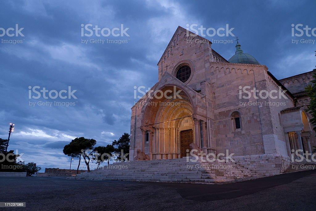 Ancona: San Ciriaco Cathedral royalty-free stock photo