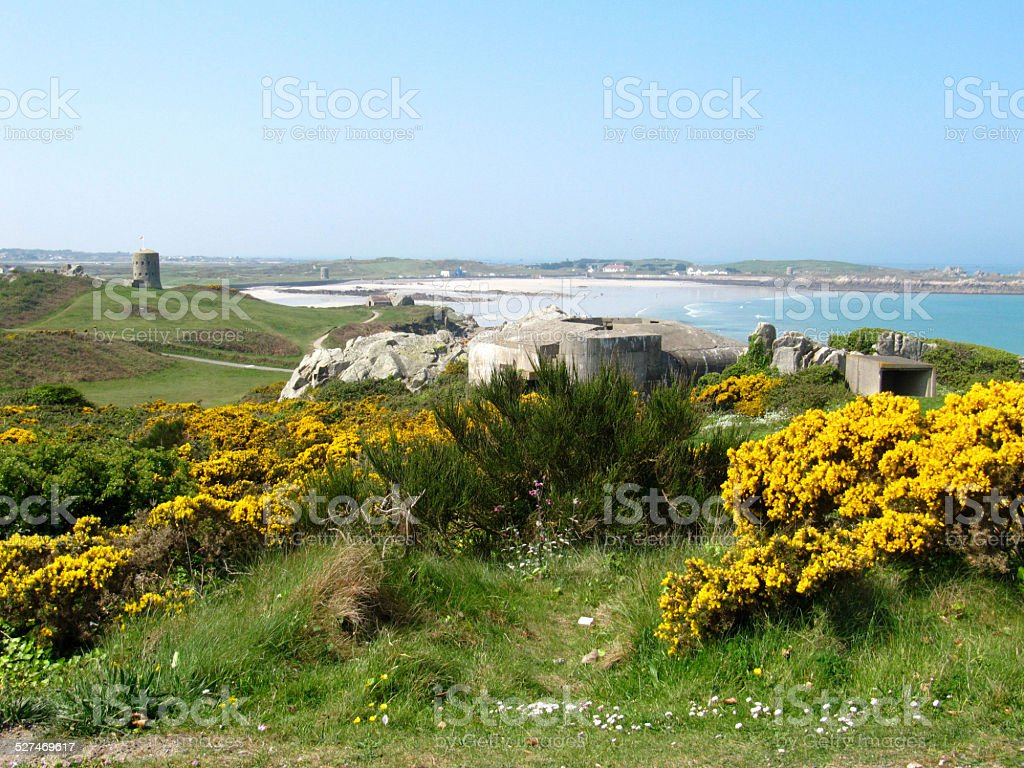 L'Ancresse Common, Guernsey stock photo