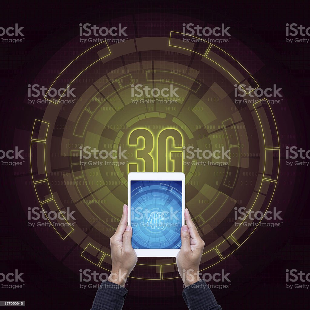 3G and 4G digital elements of  communications background royalty-free stock photo