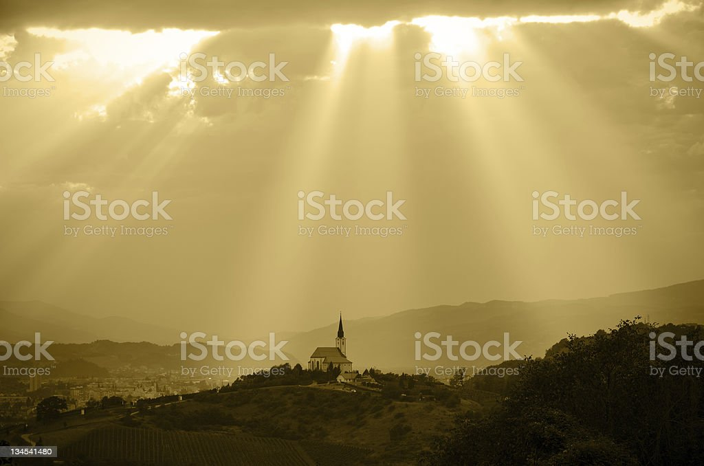 ... and a light happened stock photo