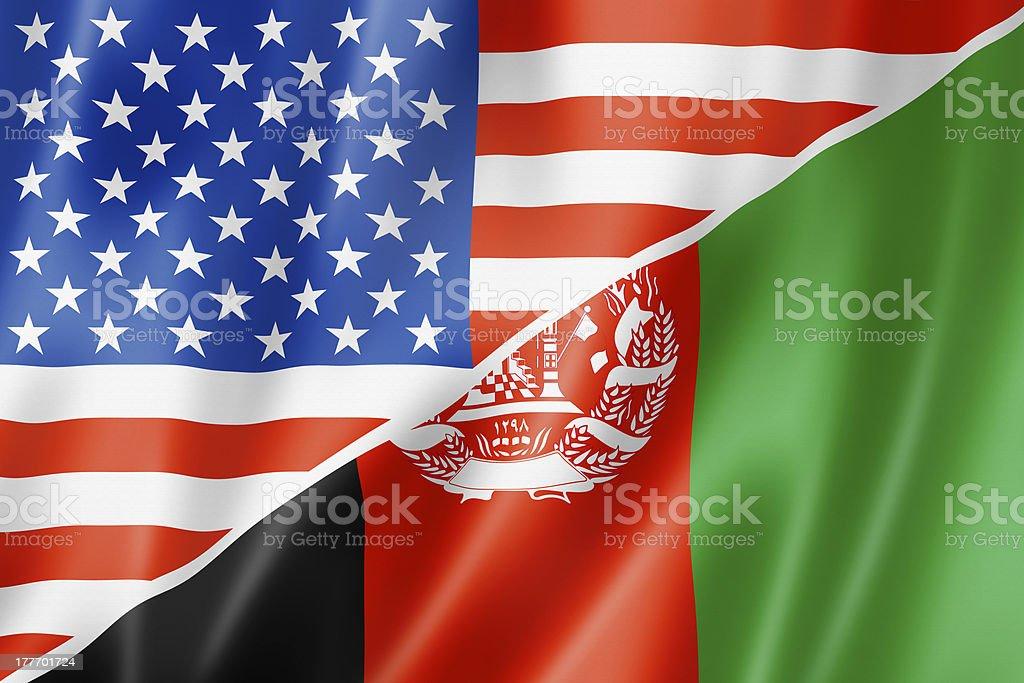 USA and Afghanistan flag royalty-free stock photo