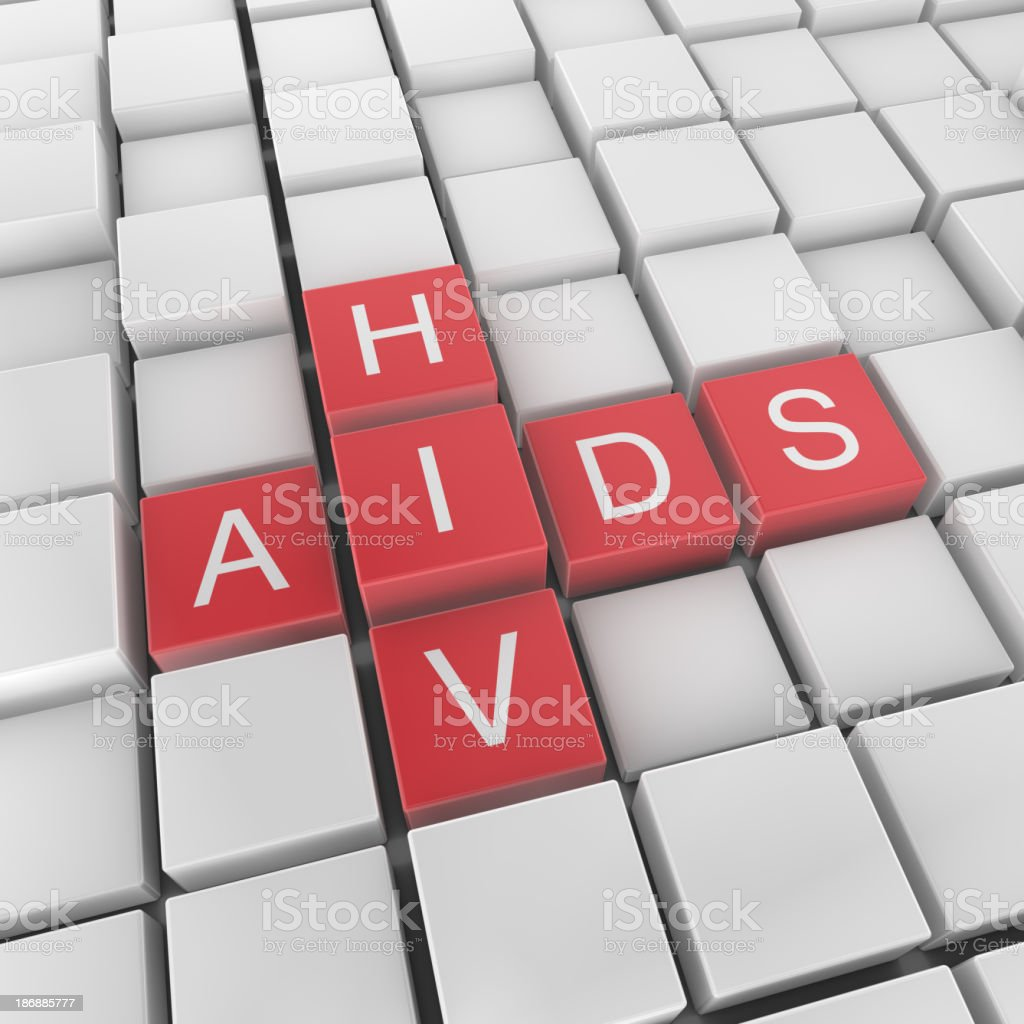 HIV and AIDS crossword concept royalty-free stock photo