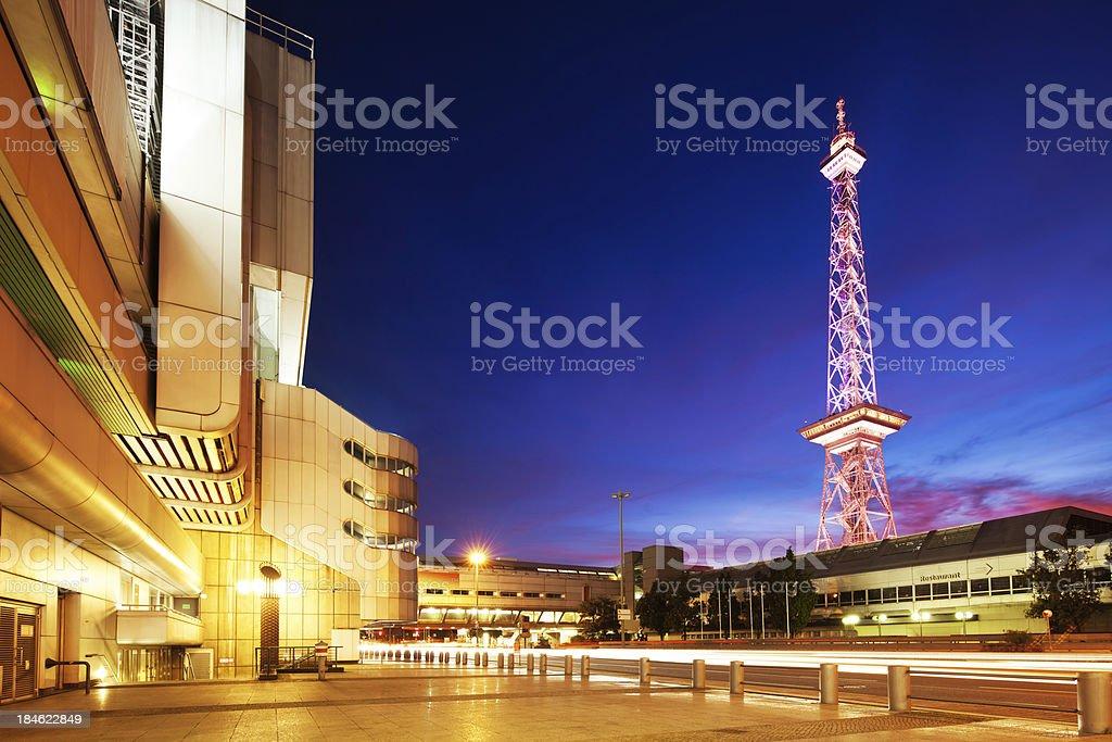 ICC and Berlin Radio Tower, Germany stock photo
