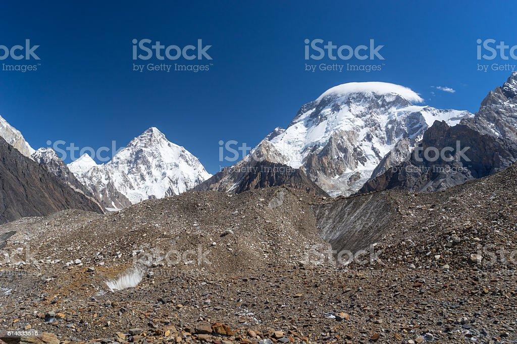 K2 and Broad peak mountain, K2 trek stock photo