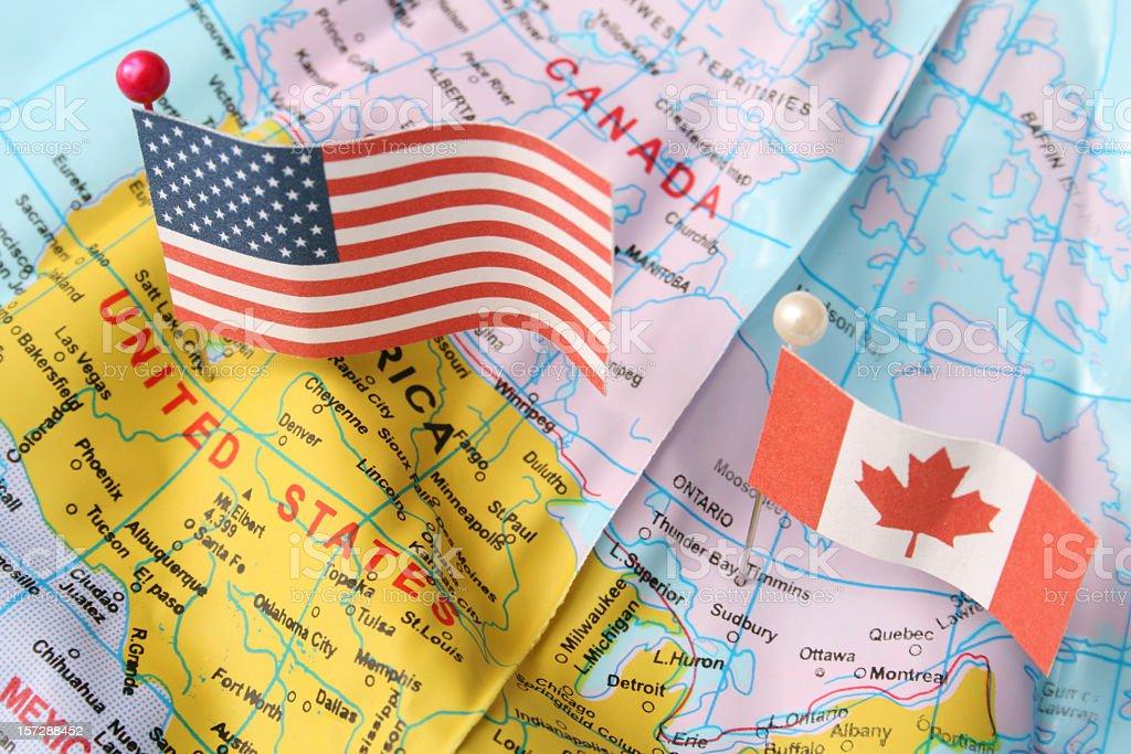 USA and Canada stock photo