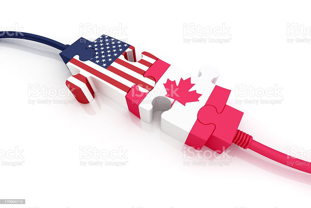 USA and Canada royalty-free stock photo
